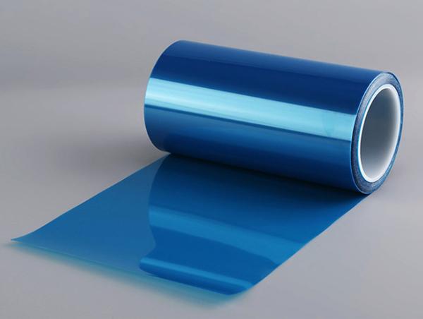 蓝色硅胶pet保护膜